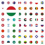 Hungary round flag icon. Round World Flags Vector illustration Icons Set. Hungary round flag icon. Round World Flags Vector illustration Icons Set Royalty Free Stock Images