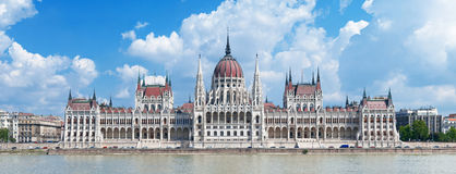 Hungary's Parliament Building panorama Royalty Free Stock Photo