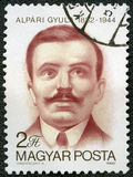 HUNGARY - 1982: shows Gyula Alpari 1882-1944, Hungarian Communist, anti-fascist martyr Royalty Free Stock Images