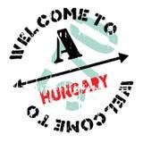Hungary stamp rubber grunge Stock Photos