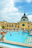 Hungary: Szechenyi bath spa in Budapest. Royalty Free Stock Photos
