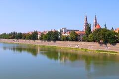 Hungary - Szeged. Szeged, Hungary. City in Csongrad county. Cityscape with Tisza river Royalty Free Stock Photos