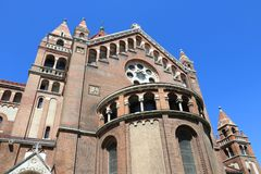 Hungary - Szeged. Szeged Votive Church in Hungary. Romanesque revival architecture Stock Image