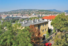 Hungary. Top-view of Budapest Royalty Free Stock Photos