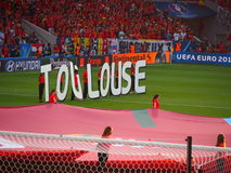 Hungary v Belgium in Toulouse Stock Photography