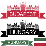 Hungary. Vector illustration (EPS 10 Stock Image