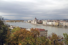 Hungary, view  on the Budapest city, Parlament  and Danube River Royalty Free Stock Photography