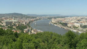 Hungary, views of the city from a height stock footage