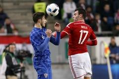 Hungary vs. Croatia international friendly football match Stock Photography