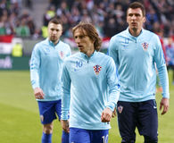 Hungary vs. Croatia international friendly football match Royalty Free Stock Photography