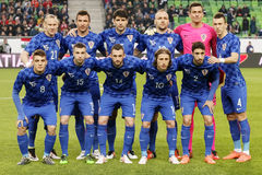 Hungary vs. Croatia international friendly football match Stock Photo