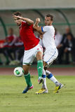 Hungary vs. Czech Republic football match Stock Images