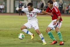 Hungary vs. Czech Republic football match Royalty Free Stock Photos