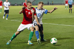 Hungary vs. Estonia World Cup qualifier match Royalty Free Stock Photos