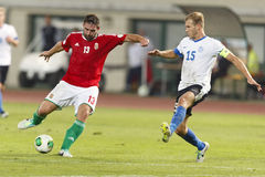 Hungary vs. Estonia World Cup qualifier match Stock Photo