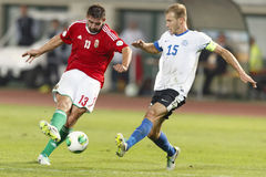 Hungary vs. Estonia World Cup qualifier match Stock Image