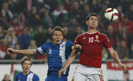 Hungary vs. Finland UEFA Euro 2016 qualifier football match Stock Image