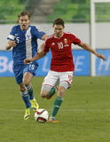 Hungary vs. Finland UEFA Euro 2016 qualifier football match Stock Image