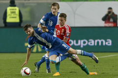 Hungary vs. Finland UEFA Euro 2016 qualifier football match Stock Photos