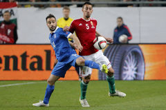 Hungary vs. Greece UEFA Euro 2016 qualifier football match Stock Images