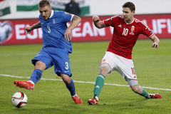 Hungary vs. Greece UEFA Euro 2016 qualifier football match Royalty Free Stock Photography