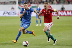 Hungary vs. Greece UEFA Euro 2016 qualifier football match Royalty Free Stock Photo