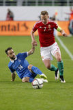 Hungary vs. Greece UEFA Euro 2016 qualifier football match Stock Photos