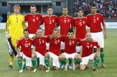 Hungary vs. Iceland football game Royalty Free Stock Photo