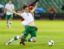 Hungary vs. Ireland friendly football game Royalty Free Stock Images