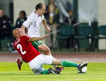 Hungary vs. Ireland friendly football game Stock Photos