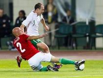 Hungary vs. Ireland friendly football game Stock Photos