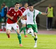 Hungary vs. Ireland friendly football game Stock Images