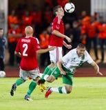Hungary vs. Ireland friendly football game Stock Photo