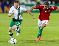 Hungary vs. Ireland friendly football game Royalty Free Stock Images
