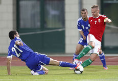 Hungary vs. Israel friendly football game Royalty Free Stock Images