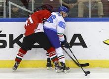 Hungary vs. Italy IIHF World Championship ice hockey match Royalty Free Stock Image