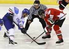 Hungary vs. Italy IIHF World Championship ice hockey match Stock Photography