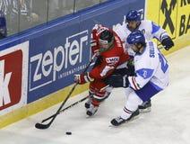 Hungary vs. Italy IIHF World Championship ice hockey match Royalty Free Stock Photos