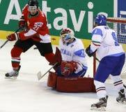 Hungary vs. Italy IIHF World Championship ice hockey match Royalty Free Stock Photo