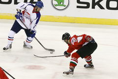 Hungary vs. Korea IIHF World Championship ice hockey match Royalty Free Stock Photo