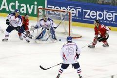 Hungary vs. Korea IIHF World Championship ice hockey match Stock Images
