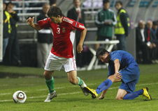 Hungary vs. Moldova UEFA Euro 2012 qualifying game Royalty Free Stock Image