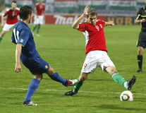 Hungary vs. Moldova UEFA Euro 2012 qualifying game Stock Image