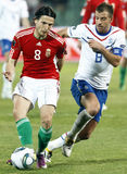 Hungary vs. Netherlands football game Royalty Free Stock Photos