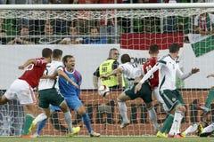 Hungary vs. Northern Ireland UEFA Euro 2016 qualifier football m Royalty Free Stock Images