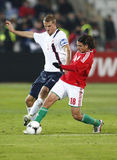 Hungary vs. Norway (0:2) friendly football game Royalty Free Stock Photography