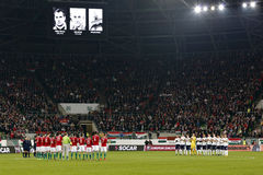 Hungary vs. Norway UEFA Euro 2016 qualifier play-off football match Royalty Free Stock Photography