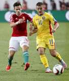 Hungary vs. Romania UEFA Euro 2016 qualifier football match Royalty Free Stock Photo