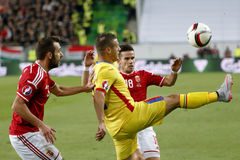 Hungary vs. Romania UEFA Euro 2016 qualifier football match Royalty Free Stock Image
