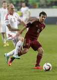 Hungary vs. Russia friendly football match Stock Images